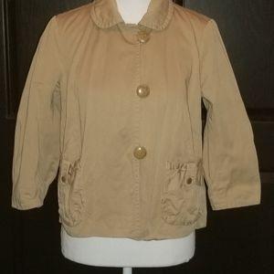 J. Crew Chino Khaki Utility Jacket